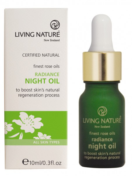 Living Nature Radiance Night Oil - Antifalten Rosenöl