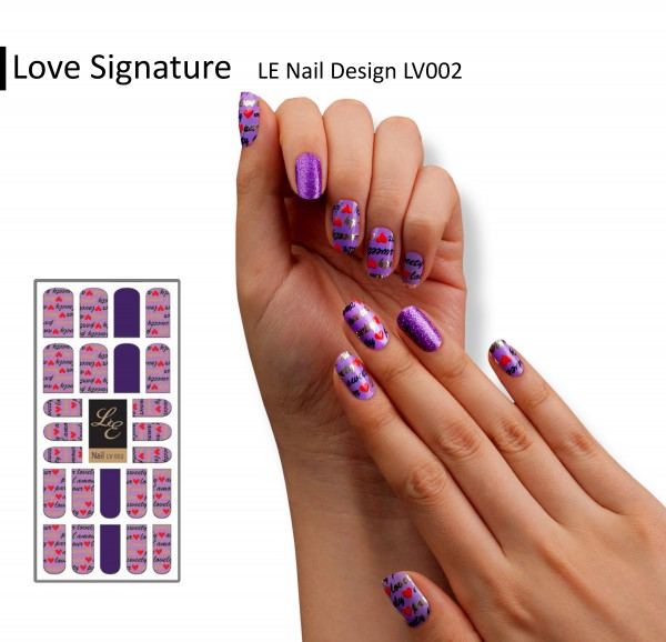 LE Nail Design LV002 - Love Signature