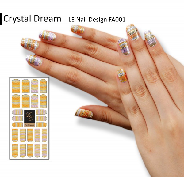 LE Nail Design FA001 - Crystal Dream