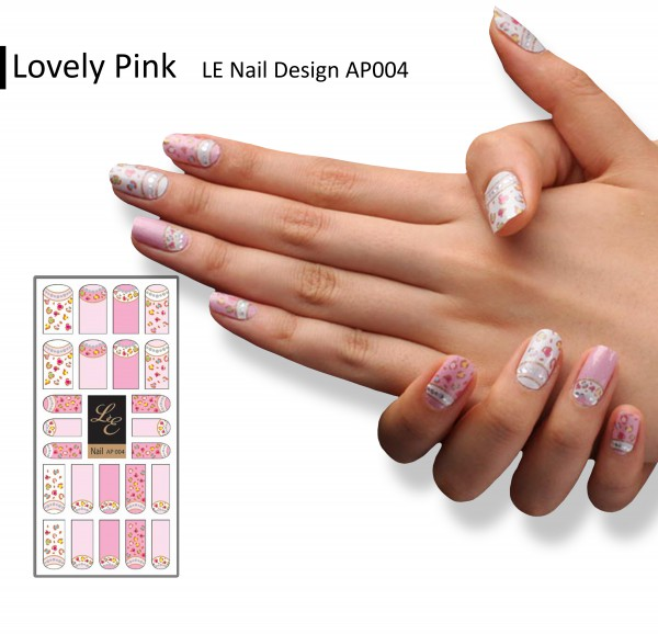 LE Nail Design AP004 - Lovely Pink