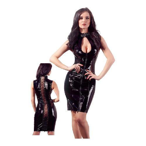 Lack Kleid schwarz