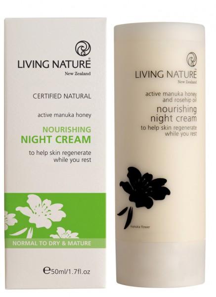 Living Nature Nourishing Night Cream - Nährende Nachtcreme