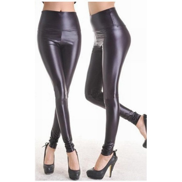 Wetlook Leggings schwarz