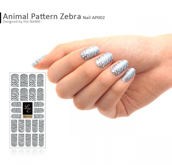 LE Nail Design AP002 - Animal Pattern Zebra