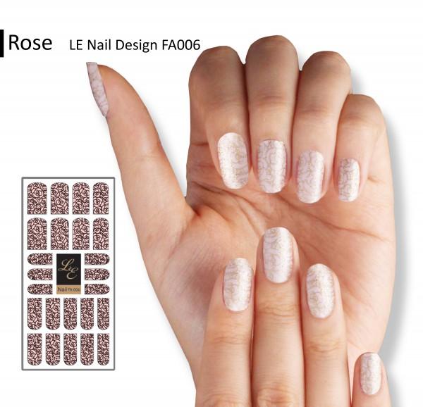 LE Nail Design FA006 - Rose