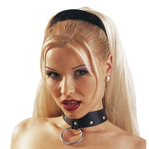 Leder Halsband