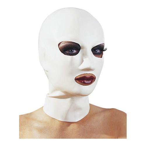 Latex Kopfmaske weiß