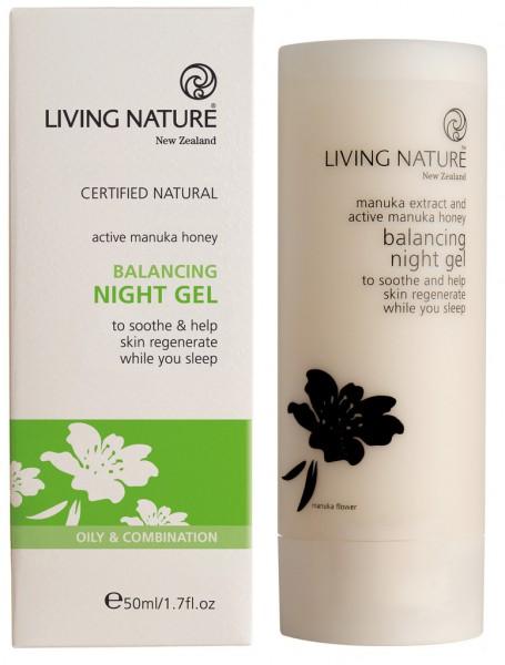 Living Nature Balancing Night Gel - Ausgleichendes Nachtgel